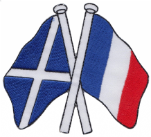 Scotland & France Friendship Embroidered Patch A182